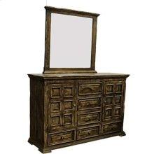 """Mirror : 44"""" x 40"""" x 2.5"""" Terra Latte Dresser/Mirror"""