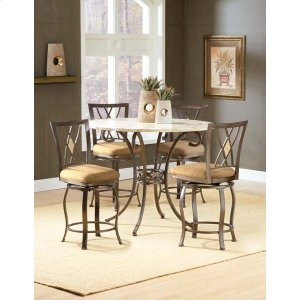 Hillsdale FurnitureBrookside 5pc Counter Height Set W/ Diamond Stools