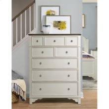 Grand Haven - Five Drawer Chest - Feathered White/rich Charcoal Finish