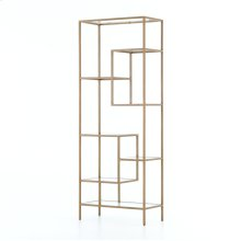 "83"" Size Antique Brass Finish Helena Brass Bookcase"