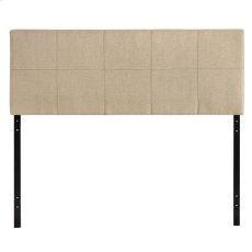 Oliver Queen Upholstered Fabric Headboard in Beige Product Image