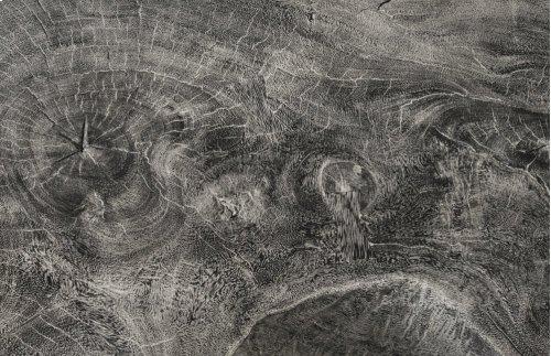 Chamcha Wood Freeform Coffee Table, Grey Stone