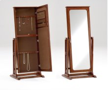 Cherry Cheval Mirror/Jewelry Armoire