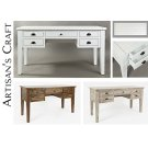 Artisan's Craft 5-drawer Desk - Weathered White Product Image