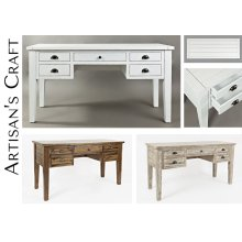 Artisan's Craft 5-drawer Desk - Washed Grey