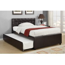 F9215F / Cat.19.p108- FULL BED W/TRUNDL W/SLATS ESP