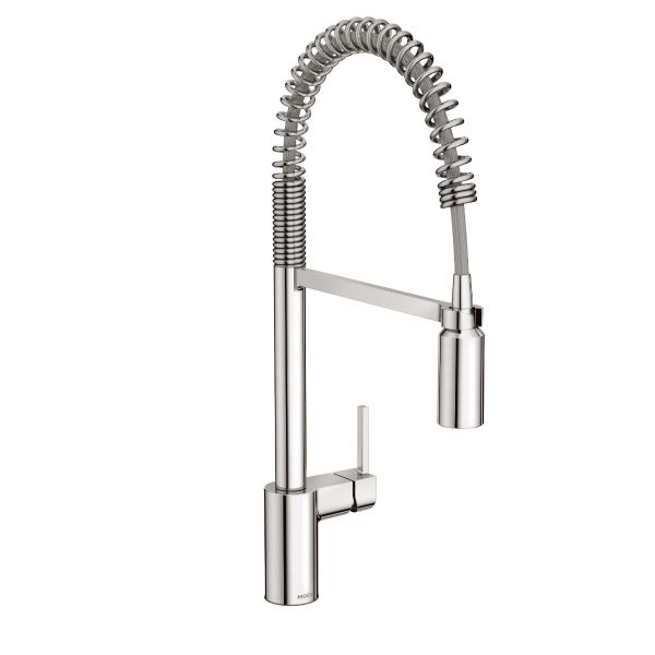 Incroyable Align Chrome One Handle Pre Rinse Spring Pulldown Kitchen Faucet