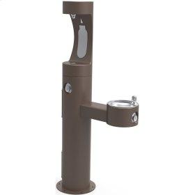 Elkay Outdoor EZH2O Bottle Filling Station Bi-Level Pedestal, Non-Filtered Non-Refrigerated Brown