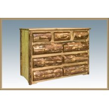 Glacier Country Rustic 9 Drawer Dresser