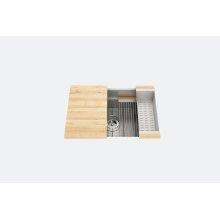 "SmartStation 005401 - undermount stainless steel Kitchen sink , 27"" × 18 1/8"" × 10"" (Maple)"