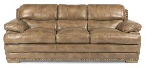 Dylan Leather Three-Cushion Sofa with Nailhead Trim