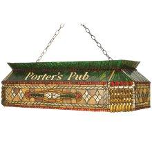 """40""""L Personalized Porter's Pub Oblong Pendant"""