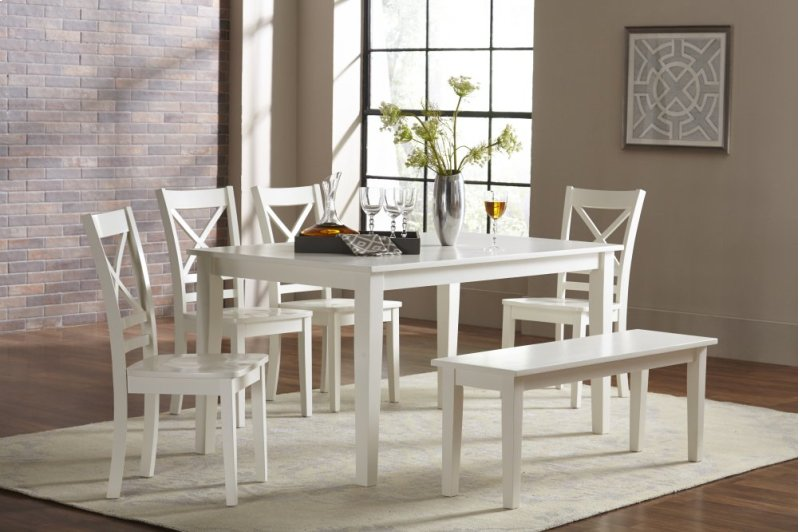 Astonishing 6Pc65260Wbench In By Jofran In Stoneham Ma Simplicity Andrewgaddart Wooden Chair Designs For Living Room Andrewgaddartcom