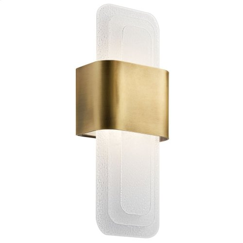 Serene LED Wall Sconce Natural Brass