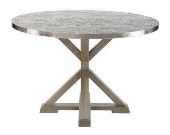 Stockton Round Metal Dining Table in Portobello Product Image