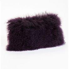 Lamb Fur Pillow Rect. Purple