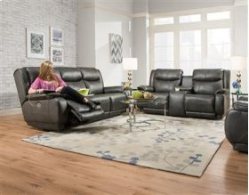 Double Reclining Sofa with Power Headrest