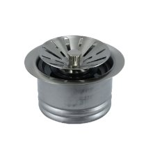 Contemporary - Complete Stopper & Strainer Unit Waste Disposer Trim - Extended Flange