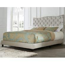 "Marilyn Queen Bed, Gold 64""x4""x58"""