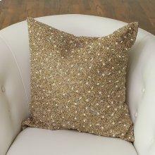 Golden Beaded Pillow