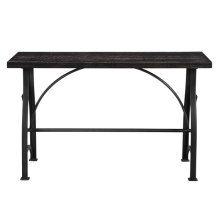 Industrial Metal Brace Sofa Table
