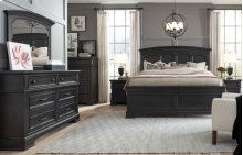Townsend Arched Panel Bed, Queen 5/0