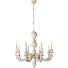 Visual Comfort AH5026BW Alexa Hampton Dexter 8 Light 37 inch Belgian White Chandelier Ceiling Light in (None)