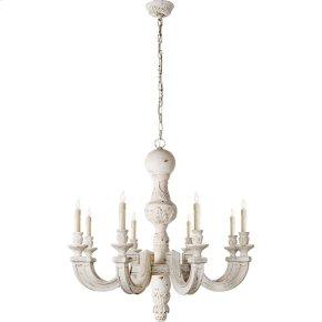 Visual Comfort AH5026BW Alexa Hampton Dexter 8 Light 37 inch Belgian White Chandelier Ceiling Light in (None)