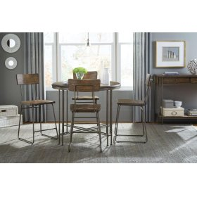 Round Ct Ht Table and 4 stools