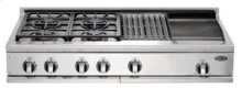 "48"" Cooktop, 4 Burner w/Griddle & Grill"