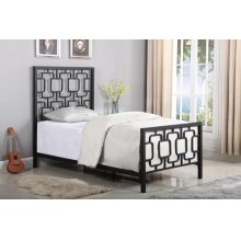 Annabella Transitional Black Twin Bed