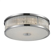 Amersham 4-Light Flush Mount in Chrome with Clear Glass Rod Diffuser