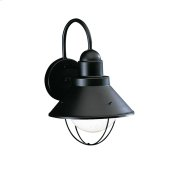 Seaside Collection Seaside 1 Light Outdoor Wall Lantern BK