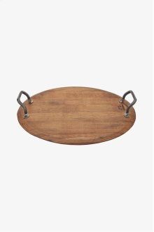 Vintner Oak Barrel Platter with Lazy Susan STYLE: VNPA02