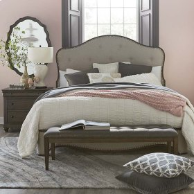 Cal King/Provence Cobblestone Provence Upholstered Bed