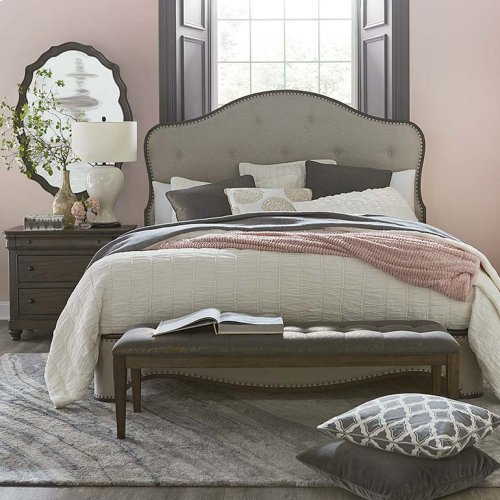 Queen/Provence Brandy Provence Upholstered Bed