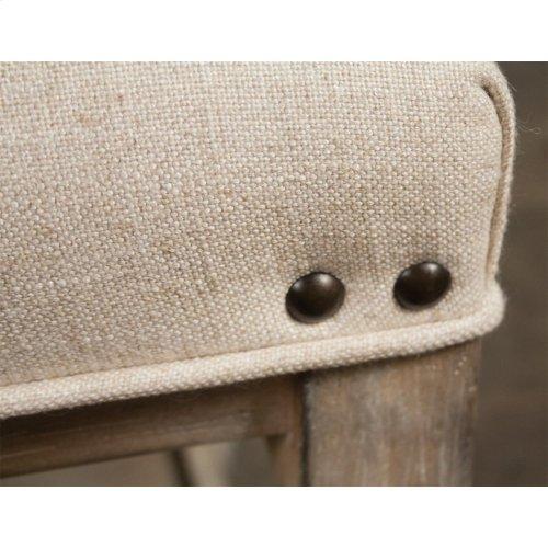 Riverside Juniper 72 Inch Upholstered Dining Bench Natural