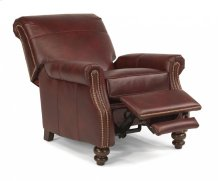 Bay Bridge Leather Power High-Leg Recliner with Nailhead Trim