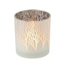 Frosted Tree Tealight Holder