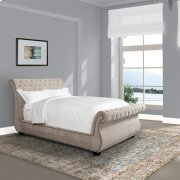 Claire Khaki Upholstered Bed Collection Product Image