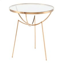 Areille Side Table  Brass