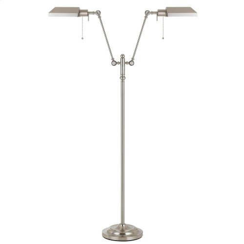 100W X 2 Dual Light Pharmacy Floor Lamp With Metal Shade