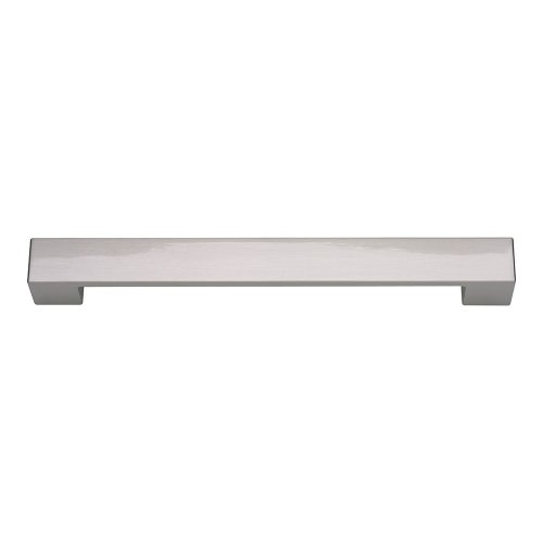 Wide Square Pull 7 9/16 Inch - Brushed Nickel