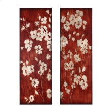 16 x 48 in. Wood Cherry Blossom (set of 2)