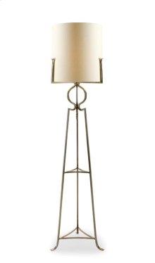 Polished Steel Floor Lamp
