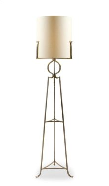 Polished Steel Floor Lamp