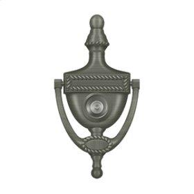 Door Knocker-Viewer, Victorian Rope - Antique Nickel