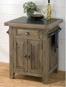 Slater Mill Pine Kitchen Cart