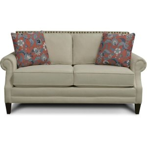 ENGLAND FURNITURE Palmer Loveseat With Nails 7l06n
