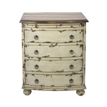 White Distressed Drawer Chest